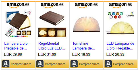 Ejemplo de enlaces de marketing de afiliados de Amazon